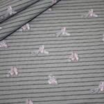 Jersey Stoff grau beige rosa Ballerina Schuhe