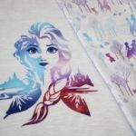 Walt Disney Jersey Stoff Panel Die Eiskönigin 2 Frozen Anna Elsa beige