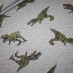 French Terry Sweatshirt Stoff grau meliert Dinos Dinosaurier