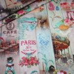 Beschichtete Baumwolle Wachstuch Paris Nostalgisch Blumen Romantisch