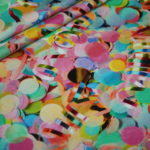Digitaldruck Jersey Stoff Konfetti Karneval