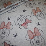 Walt Disney dünner French Terry Jersey Stoff Minnie Maus grau rot