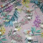 Jersey Stoff Folien Druck Vögel Kolibri rosa