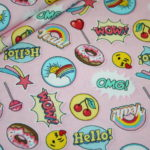 Hilco Jersey Stoff Lollipops rosa Cool