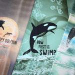 Stenzo Jersey Stoff  Panel Orca Wal Delfine