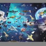 Stenzo Jersey Stoff  Panel Astronaut Weltall