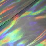Dicke PVC Folie Stoff silber multicolor
