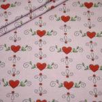 Steinbeck Jersey Stoff pink rosa Herzen Herz Prinzessin Anneli