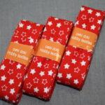 Schrägband 3 Päckchen zusammen 6m rot Sterne
