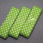 Schrägband 3 Päckchen zusammen 6m grün Punkte