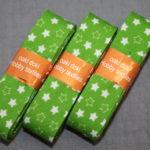 Schrägband 3 Päckchen zusammen 6m grün Sterne