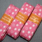 Schrägband 3 Päckchen zusammen 6m bonbon rosa Sterne