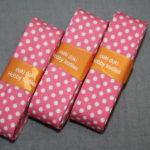 Schrägband 3 Päckchen zusammen 6m bonbon rosa Punkte