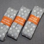 Schrägband 3 Päckchen zusammen 6m grau Sterne