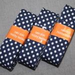 Schrägband 3 Päckchen zusammen 6m dunkel blau Punkte