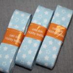 Schrägband 3 Päckchen zusammen 6m hell blau Sterne
