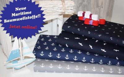 Maritime Baumwollstoffe!