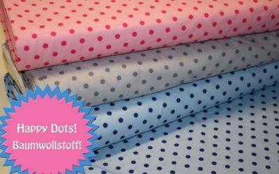 Happy Dots Baumwollstoff