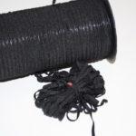 10m Schmales weiches Gummiband schwarz