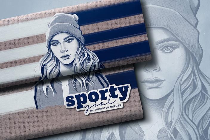 Sporty Girl by Thorsten Berger Illustration.
