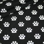 Stenzo Jersey Stoff Hunde Pfoten Sternchen schwarz