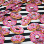 Stenzo Digitaldruck Jersey Stoff Donuts
