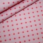 Baumwollstoff rosa kleine Sterne