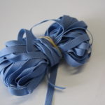 10m Schmales weiches Gummiband blau
