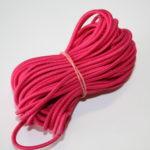 10m runde Gummikordel Gummiband pink