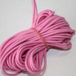 10m runde Gummikordel Gummiband rosa