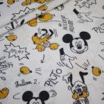 Original Walt Disney Baumwollstoff Mickey Maus and Pluto