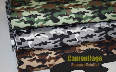 Camouflage Baumwollstoffe!
