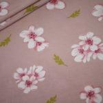 Dünner Tencel Modal Viskose Jersey Stoff Blumen Cherry Blossom altrosa rosa
