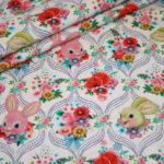 Fiona Hewitt Jersey Stoff Hase Happy Bunny