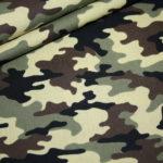 Baumwollstoff Camouflage grün