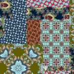 Stenzo Jersey Stoff bunt große Blumen Muster