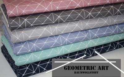 Geometric Art Baumwollstoff!