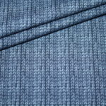 Stenzo French Terry dünner Sweatshirt Stoff blau Strickmuster Optik