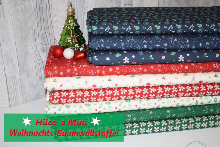 Hilco Weihnachts-Baumwollstoffe!