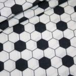 Baumwollstoff Fußball Muster
