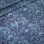 Jersey Stoff blau Muster Spotlight