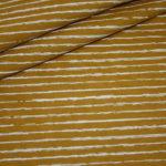 Jersey Stoff senf kleine Streifen