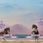 Stenzo Jersey Stoff Panel Pferde Pony