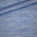 Hilco Jersey Stoff Maritim Streifen blau weiß