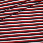 Jersey Stoff Streifen blau rot