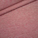 Bella Jersey Stoff Mini Ringel rot rot