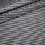Bella Jersey Stoff Mini Ringel grau schwarz