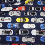 Stenzo Jersey Stoff Autos blau