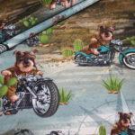Stenzo Jersey Stoff Hund aud Motorrad