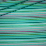 Stenzo Jersey Stoff Streifen weiß türkis pink